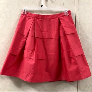 J Crew Womens  ALine Tier Pleated Skirt Coral Pink